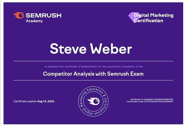 Week 188:  Competitor Analysis With SEMrush