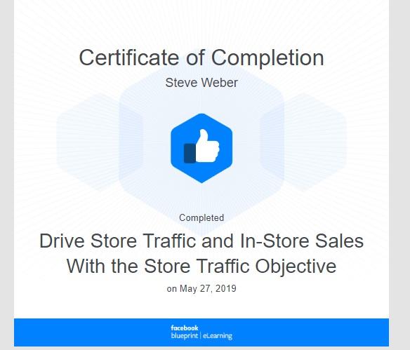 Week 78: Facebook - Drive Store Traffic
