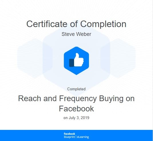 Week 82: Facebook - Reach and Frequency Buying on Facebook