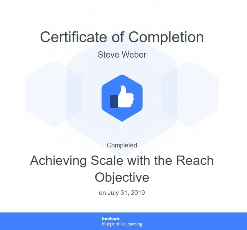 Week 89: Facebook Achieving Scale with the Reach Objective