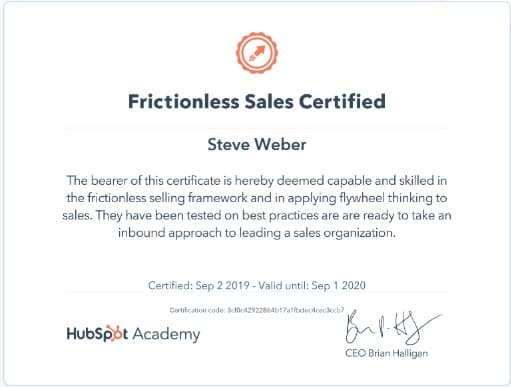 Week 91: Hubspot Frictionless Sales