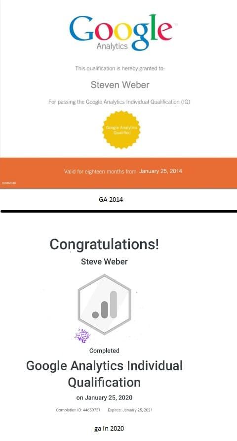 Week 107: Google Analytics IQ Certification