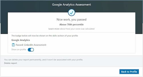 Week 115: LinkedIN Google Analytics Skill Exam