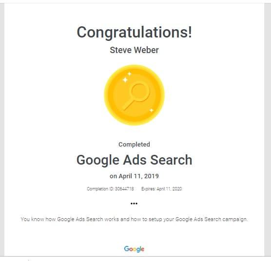 Google Ads Search 2019