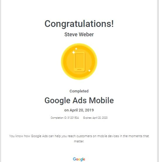 Week 73: Google Ads Mobile