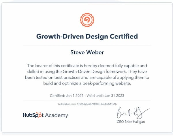 Week 156: Hubspot Growth Driven Design