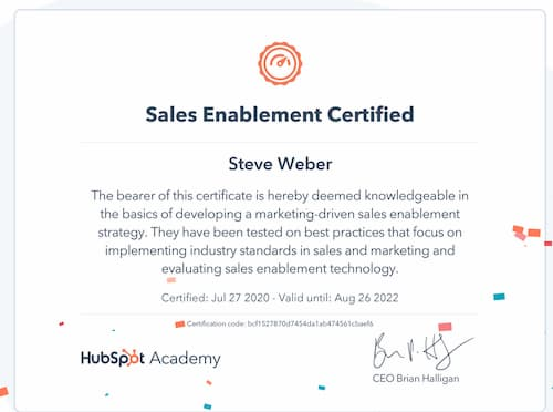 Week 135: Hubspot Sales Enablement