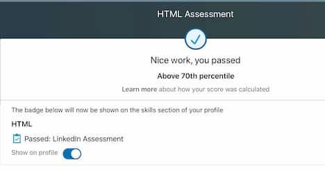 Week 106:LinkedIN HTML Exam