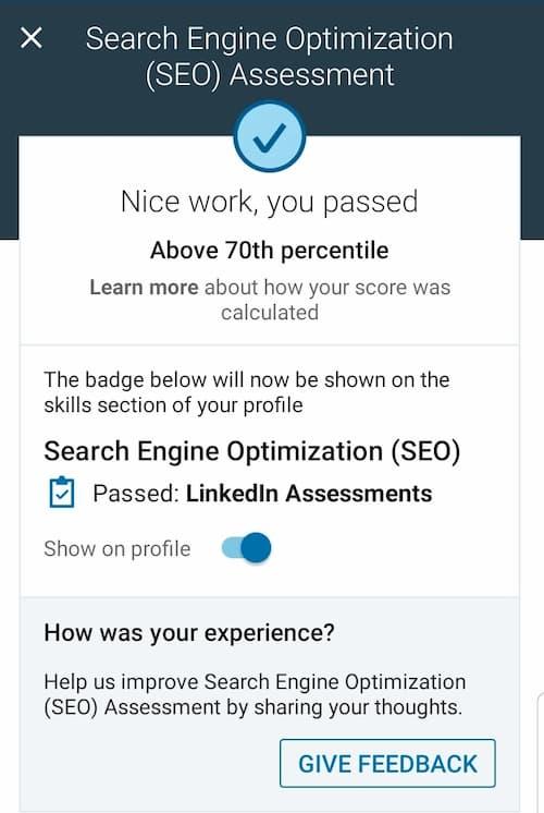 Week 137: LinkedIn SEO Skill Exam