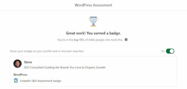Week 148:Wordpress Linkedin Skill Exam