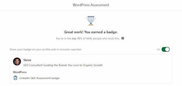 Week 148:Wordpress Linkedin Skill Exam