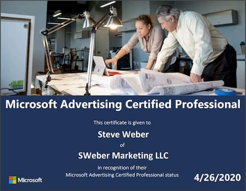Week 120: Microsoft Advertising Certification 2020