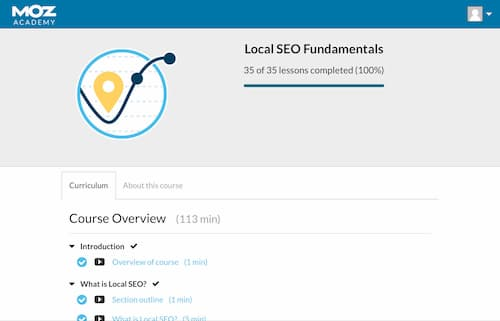 Week 119: Moz Academy Local SEO Foundations
