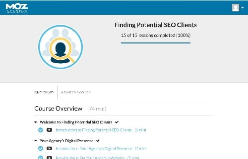 Week 118: Moz Academy Finding Potential SEO Clients