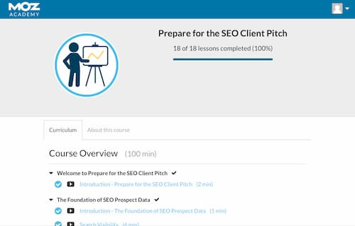 Week 121: Moz Academy Prepare for the SEO Client Pitch