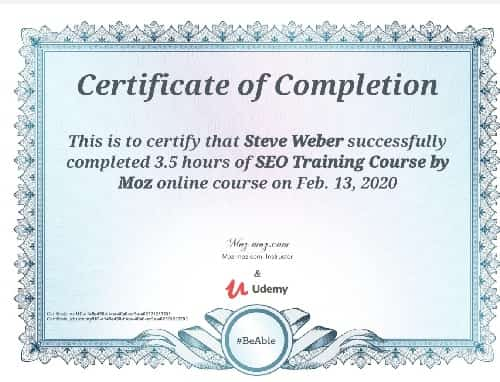 Week 110: SEO Training Course by Moz