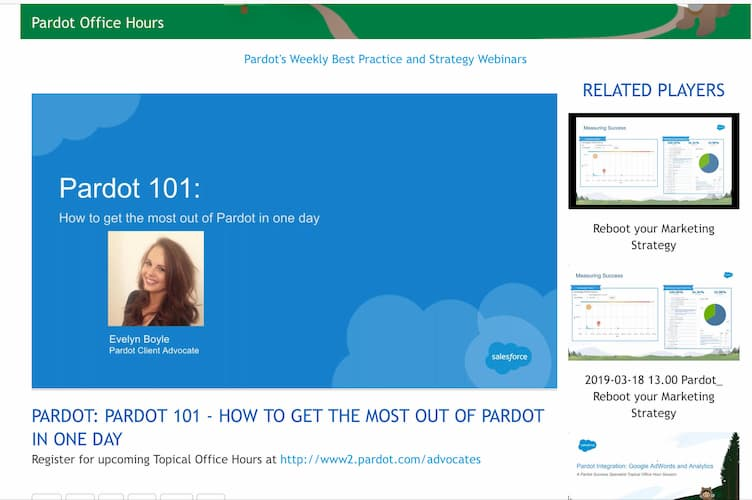 Week 84:Pardot 101 Course