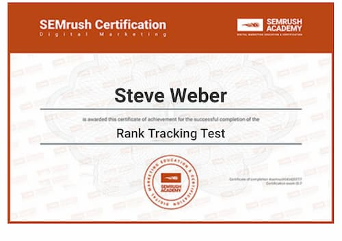Week 140: SEMRush Rank Tracking