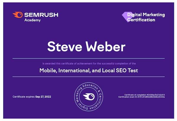 Week 194:  SemrushMobile, International, and Local SEO Exam