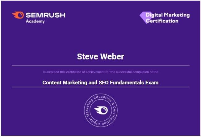 Week 186: SEMrush Content Marketing and SEO Fundamentals