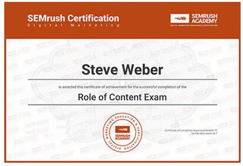 Week 132: SEMrush The Role of Content