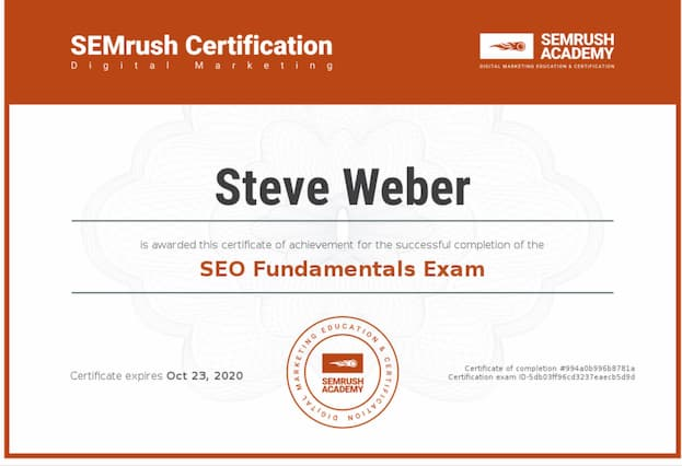 Week 95: SEMrush SEO Fundamentals