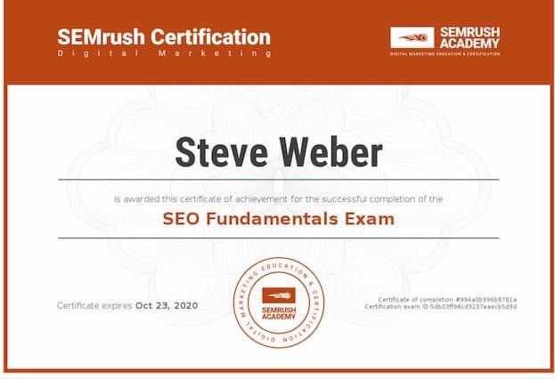 Week 95: SEMrush SEO Fundamentals
