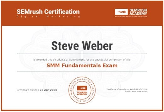 Week 74: SEMrush SMM Fundamentals