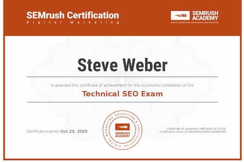 Week 97: SEMrush Technical SEO 2019