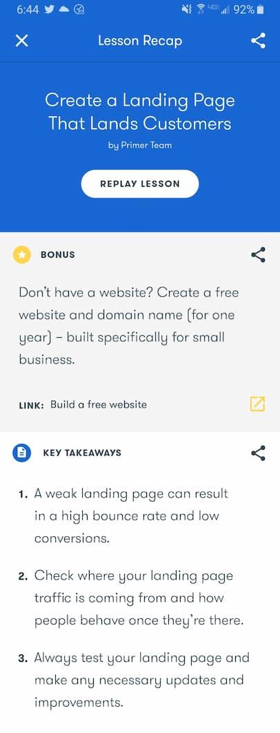 Week 181: Google Primer Create a Landing Page That Lands Customers