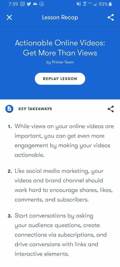 Week 183: Google Primer Actionable Online Videos: Get More Than Views