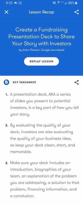 Week 185: Google Primer Create a Fundraising Presentation Deck to Share Your Story with Investors