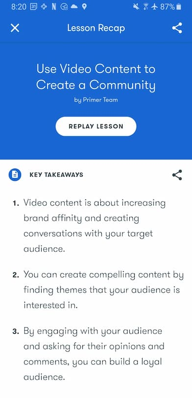 Week 191:  Google Primer Use Video Content to Create a Community