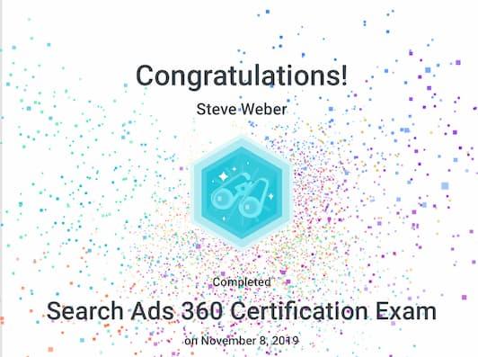 Week 96: Google Search Ads 360 2019