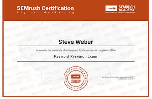 Week 145: SEMRush Keyword Research Exam