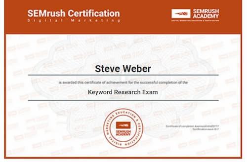 Week 145: SEMRush Keyword Research Exam