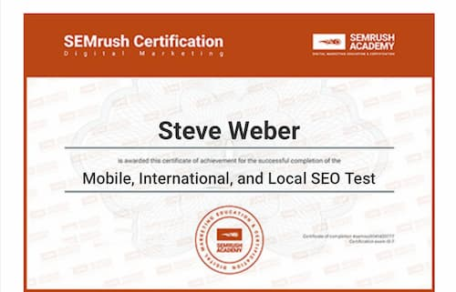 Week 139: SEMRush Mobile, International, and Local SEO Test