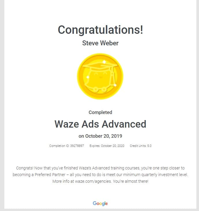 Week 93: Waze Ads Advanced