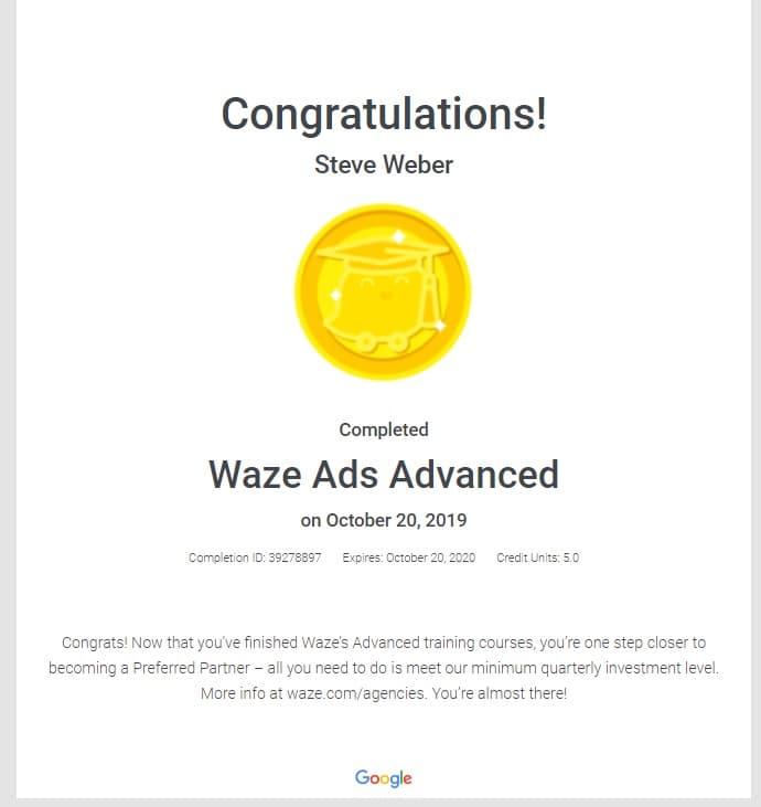 Week 93: Waze Ads Advanced