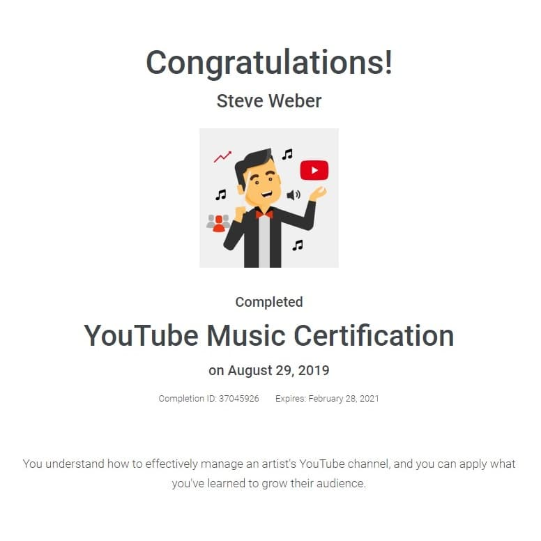 Week 88: Youtube Music Certified