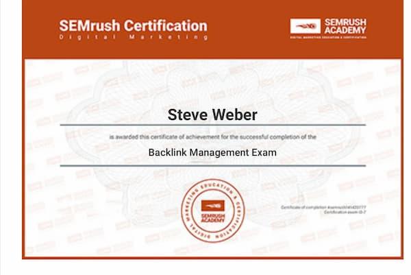 Week 154: SEMrush Backlink Management Exam