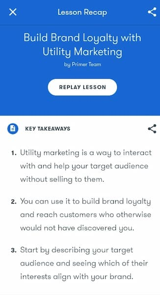 Week 172: Google Primer - Build Brand Loyalty with Utility Marketing