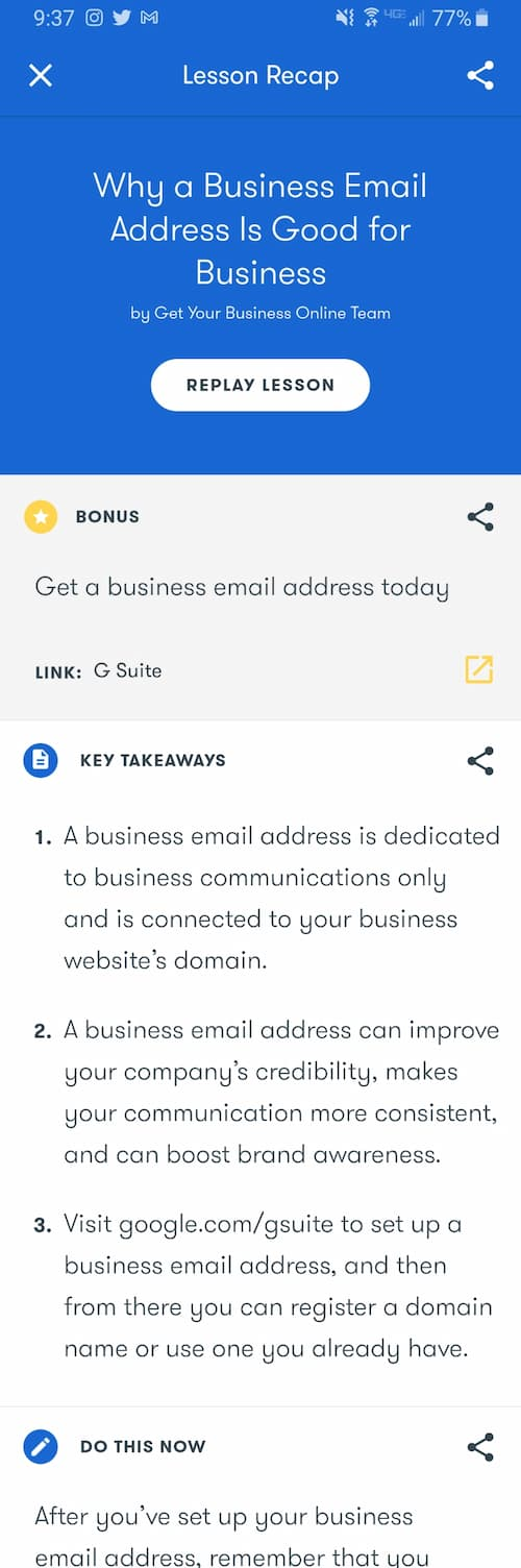 Week 164: Google Primer  -Why a Business Email Address Is Good for Business