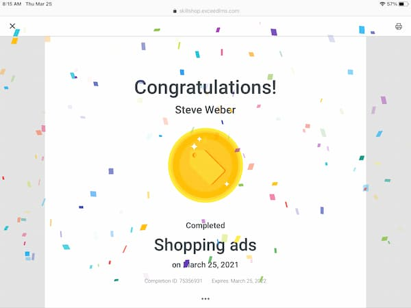 Week 168: Google Shopping Ads Certification 2021